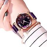Reloj de Pulsera para Mujer con Correa magnética y Diamantes de imitación, analógico, de Cuarzo, para Mujer