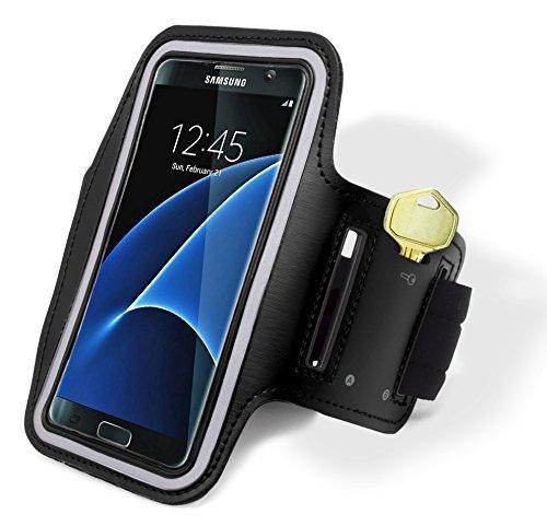 Samsung Galaxy S7 Edge Hülle, Bastex Läufer Armband Case mit Schlüsselfach für Samsung Galaxy S7 Edge G935, schwarz