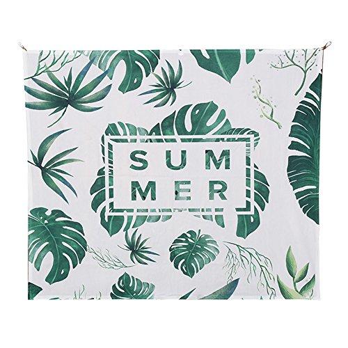 leisial Pflanzen Banana Palm Tree Leaf Wandbehang, Rainforest Decor Kollektion Kunst Aufhängen Wandteppiche Decke Wand Kunst für Schlafzimmer Wohnzimmer Zubehör Collage Wohnheim Beach