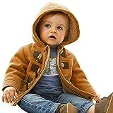 CHIC-CHIC-Manteau Duffel-coat Hiver pour Bébé Garçon Fille à Capuche Blouson Epaisse Chaud Hoodies (12-18 mois, kaki)