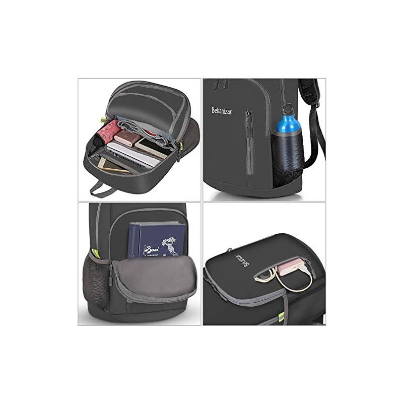 Bekahizar 20L Ultra Lightweight Backpack Foldable Hiking Daypack Rucksack Water Resistant Travel Day Bag for Men Women…