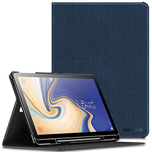 Infiland Supporto Frontale Custodia per Samsung Galaxy Tab S4 10.5 Pollice(SM-T830 Wi-Fi/SM-T835 LTE) 2018 Tablet (Auto Sonno/Veglia, con Protettivo Portapenne),Marina Militare