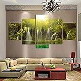 ZhenFa Fünf-Link Wasserfall Collage rahmenlose 5 Kombination hängen Gemälde (können, doppelseitigem Kleber, wie z.B. Feste oder Frame TA UT-Federung)