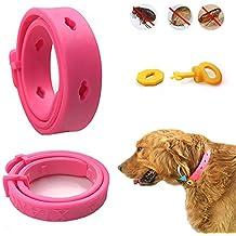 Collar de Perro - TianTa - Tick + Pulgas y repelentes de Insectos, Insecto Plagas Repelente collar Para Perros y Gatos, Protección de 80 días