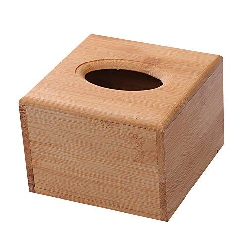 Haodou Tissue-Box Holz Tissue Box Platz Tissue Boxen Autobenutzung Kosmetiktücherbox Einfach Kosmetiktücher-Box Papiertaschentücher-Boxen Halter für Home Office Dekoration (12 * 12 * 8cm)