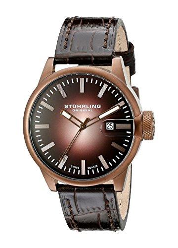 51KhRx64rZL - Stuhrling Original Brown Mens 468.3365K59 watch