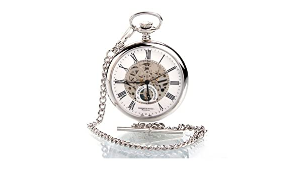 7b7c37f05 Greenwich Skeleton Open Face 17 Jewel Pocket Watch With Heart Beat Back:  Greenwich: Amazon.co.uk: Watches