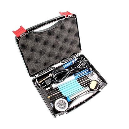 Kit del soldador, Dr.meter 19 en 1 220V 60W con Caja de herramientas, 5 PCS Puntas diferentes temperatura ajustable con interruptor On/Off