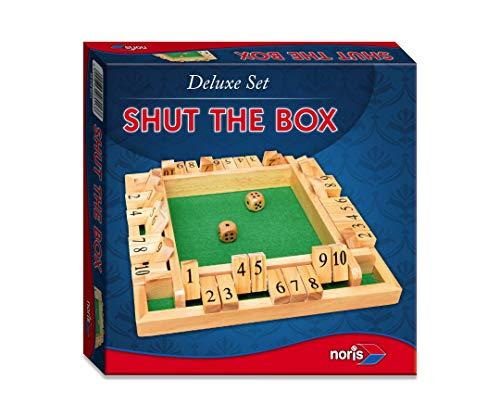 Noris 606108013 606108013-Deluxe Shut The Box, Spieleklassiker, Mehrfarbig