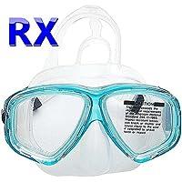 YEESAM SWIM Tauchermaske kurzsichtig Diving Tauch Schnorchel Maske NEARSIGHTED Verschreibung RX Sehstärke Mass Angefertigt - Korrekturmaßnahmen kurzsichtigen optische Schwimmbrille