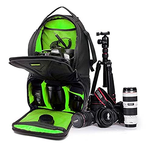 "Huntvp Camera Sling Chest Backpack Waterproof Photography Rucksack for DSLR SLR Cameras(Size:10"" x 17.3""x 7.48"") Green"