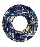Majea NEUE Kollektion Damen Loop Schal viele Farben Muster Schlauchschal Halstuch in aktuellen Trendfarben (blau 37)