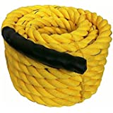 "Hard Bodies Gym Battle Rope (1.5"" Thick/50 Feet Exercise Rope)"