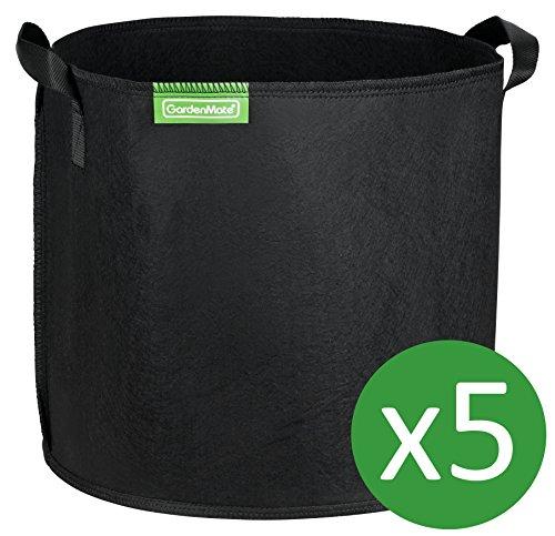 GardenMate® 5x 30L Pflanzsack aus Vliesstoff - 30L - BLACKLINE
