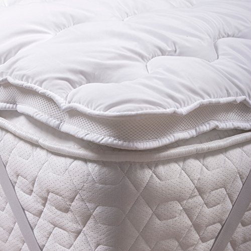 Silentnight Airmax Mattress Topper, White, King