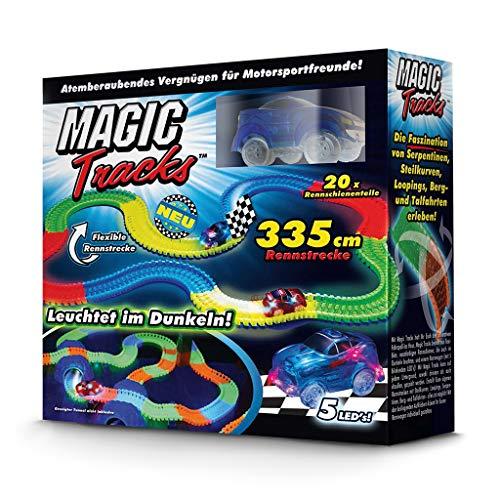 Magic Tracks Starter Set | Autorennbahn für Kinder ab 3 Jahren | Autobahn Kinder | Auto Spielzeug Set | Autorennbahn Leuchtend (Rennbahn)