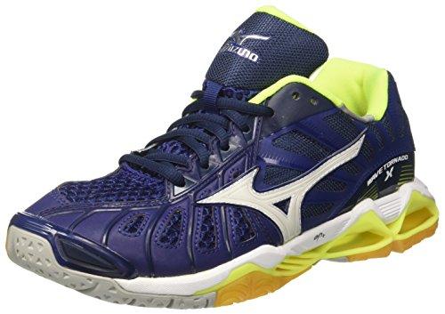 Mizuno Wave Tornado Schuhe (Mizuno Herren Wave Tornado Volleyballschuhe, Mehrfarbig (Bluedepths/White/Safetyyellow), 46 EU)