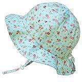 Cappello di Protezione solare Bambino 50+, misura adattabile traspirante con sottogola a strappoq (S:0-9mesi,Retro rosa)