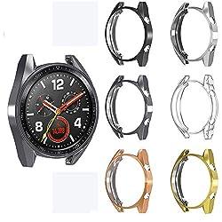 Ruentech Kompatibel mit Huawei Watch Gt Zubehör Protector Schutzhülle, Pc-Schutzhülle Anti-Fall-Kratzfest All-Inclusive-Abdeckung Easy Access All Buttons (6 Pcs)
