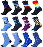MC.TAM® Jungen Mädchen Bunte Socken Strümpfe 12 Paar 90% Baumwolle Oeko Tex® Standard 100