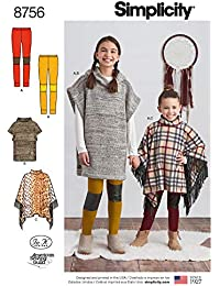 Simplicity Patterns US8756HH - Patrones de costura para niños (tallas ...