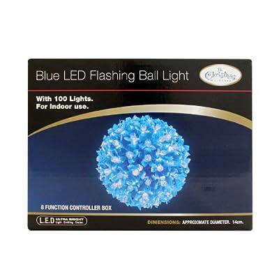 The Benross Christmas Workshop 100 LED Flashing Ball Light, Blue from Benross Group