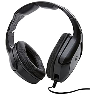 Gioteck HC-2 Wired Stereo Headset with Adjustable Mic Boom for Sony PS4/Microsoft Xbox One/PC/Mobile - Black (HC2UNI-12-MU)