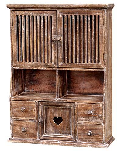 amadeco Küchenschrank Wandschrank Hängeschrank Küchenregal - Holz - Landhaus Shabby Chic Vintage Stil - Vintage -...