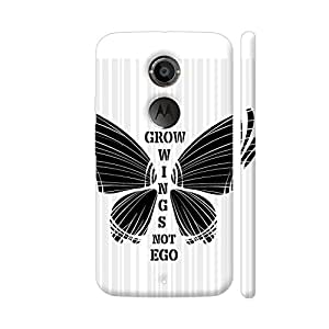 Colorpur Moto X2 Cover - Grow Wings Not Ego In Black White Case