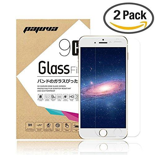 Protezione schermo iPhone 6s, Pajuva (2pezzi) pellicola protettiva in vetro temperato per iPhone 6S (11,9cm) 2 Pack Screen Protector