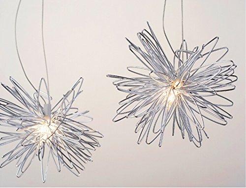 Lonfenner lampada a sospensione/plafoniera con luna e stelle, per la cameretta dei bambini/soggiorno - 5