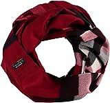 FRAAS Damen-Loop-Schal kariert aus Cashmink - wärmender Snood, Snood Rot  (Rot 360), Einheitsgröße