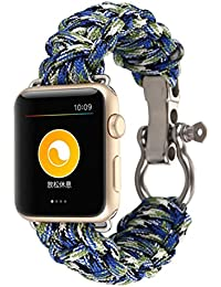Apple Watch Correas,Culater Pulsera de Cuerda de Nylon Banda para iWatch 42mm
