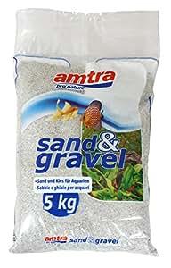 Amtra Sabbia e Ghiaia Fine per Acquario, 5 kg, Bianco