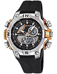Calypso Herrenarmbanduhr Quarzuhr Kunststoffuhr Alarm-Chronograph ana-digi alle Modelle K5586, Calypso Artikelnummer:K5586/4 Orange