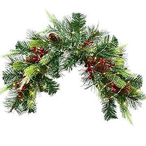 YQing 61cm Navidad Corona Christmas