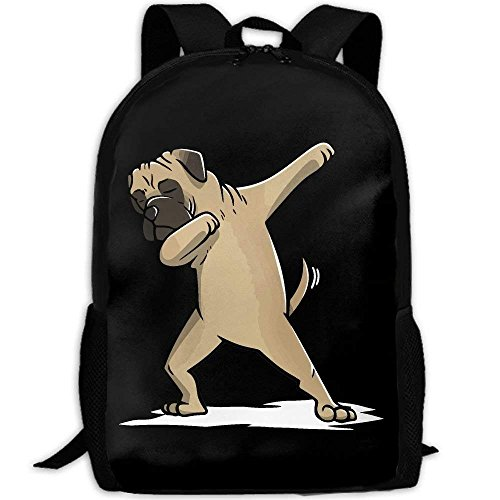 TRFashion Rucksack Funny Dabbing Bullmastiff Dog Unique Outdoor Shoulders Bag Fabric Backpack Multipurpose Daypacks (Pokemon Rucksack Auf Rädern)