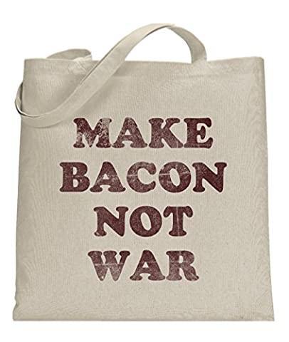 Crazy Dog TShirts - Make Bacon Not War Universal Tote Bag Funny Food Themed Tote standard - Homme
