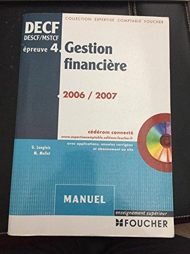 Gestion financière DECF épreuve n°4 : Manuel (1Cédérom) par Georges Langlois, Michèle Mollet