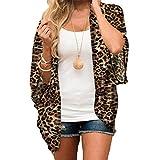 Frauen Chiffon Leopard Print Cardigan Damen Beachwear Kimono Lose Halbe Hülse Schal Vertuschen Moonuy