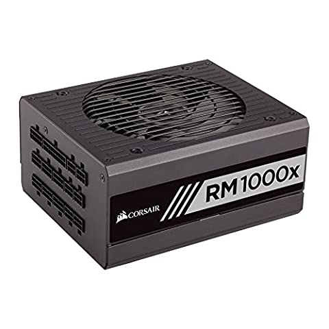 Corsair CP-9020094-UK RM1000x 1000 W 80 Plus Gold Certified Modular 135 mm Thermally Controlled Fan Power Supply Unit -