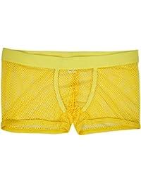 Homme Sous-vêtement Transparent Léger Boxer Slip Maille Lingerie Body G-string