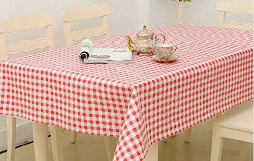 Homcomoda tovaglia pulire le tovaglie di plastica pulire la tovaglia rettangolare per la festa del ristorante di nozze 140cm x 180cm (55
