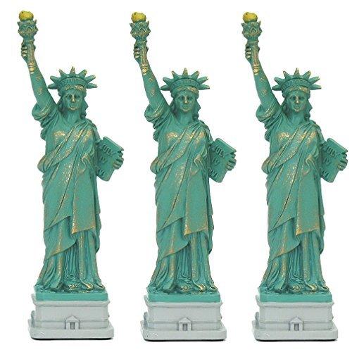 City-Souvenirs New York City Party Supplies, 10,2cm Freiheitsstatue Statuen Replica Geschenke mit Kupfer Tint; Statue of Liberty Souvenir Figuren aus New York, Polyresin, grün, 10,16 cm (New York City, Party Supplies)