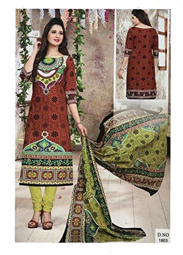 Mishri Collection Salwar Kameez Dupatta Indian Dress Material in Multi Design Shade...