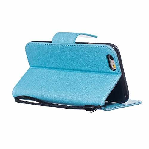 "iPhone 6 Case,iPhone 6S Housse, LANDEE Mince Clamshell Feder Motif Carte Slots Support Bouton Case Housse Cover Étui Coque pour iPhone 6 / iPhone 6S (4.7"")(6S-P-603) 6S-P-602"