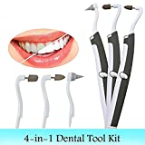 Ilucky Multifunktions Sonic Tooth Stain Radiergummi, 3-In-1 Multifunktions Sonic Tooth Stain Radiergummi Plaque Remover Dental Tool Kit Mundhygiene Care Tools Mit LED-Licht