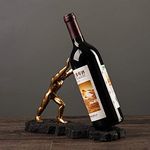 (HAIZHEN Europäische Retro Harz Wine Rack Holder Weihnachten TV-Schrank Kunstwerk Handwerk Wein Regal Home Ornamente Dekoration Interieur Anzeige Halloween Geschenk Stand)