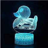 Nachtlicht Usb Bunte 3D Led Touch-Taste Nachtlicht Kreative Ente Stadt Architekturmodell Kinder Tischlampe Schlafzimmer Hause Beleuchtung Dekoration