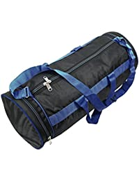 Round Large Gym Bag/Duffle Bag/Sport Bag For Men And Women - 19 X 8 X 8 Inch - Black